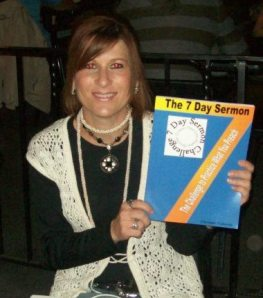 Image of Christine with The 7 Day Sermon Workbook