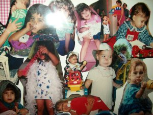 Collage of baby pictures